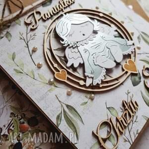 niesztampowe scrapbooking kartki chrzest kartka święty