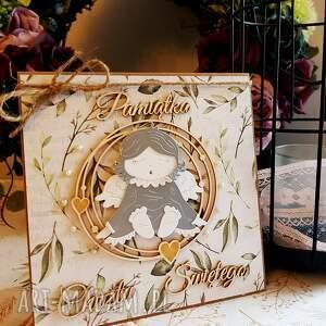scrapbooking kartki anioł kartka chrzest święty
