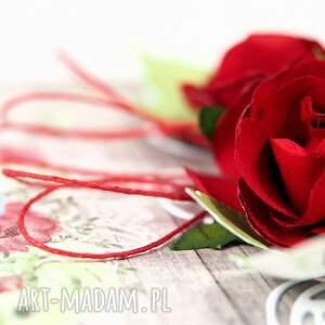 kartka scrapbooking kartki czerwone róże
