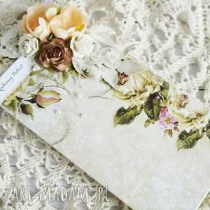beżowe scrapbooking kartki dla-babci kartka dla babci (z pudełkiem)