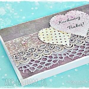 beżowe scrapbooking kartki babci kartka dla