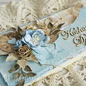 dzień-dziadka scrapbooking kartki turkusowe kartka dla dziadka (z pudełkiem)