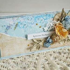 turkusowe scrapbooking kartki dla-dziadka kartka dla dziadka (z pudełkiem)