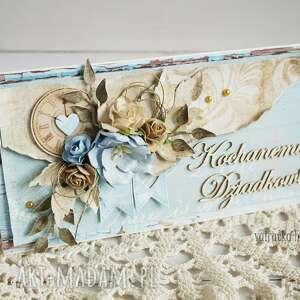 beżowe scrapbooking kartki dla-dziadka kartka dla dziadka (z pudełkiem)