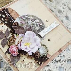 beżowe scrapbooking kartki dzień-babci kartka dla babci