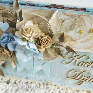 hand-made scrapbooking kartki dzień-dziadka kartka dla dziadka (z pudełkiem)