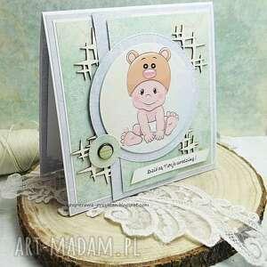 beżowe scrapbooking kartki kartka-dla-maluszka kartka dla maluszka
