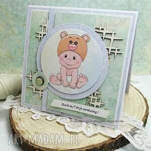 scrapbooking kartki turkusowe kartka dla maluszka