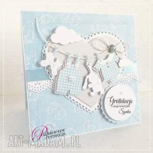 scrapbooking kartki narodziny kartka gratulacyjna z okazji