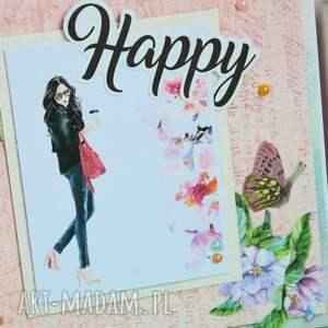 intrygujące scrapbooking kartki kartka - happy (2 )