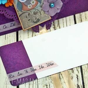 niebanalne scrapbooking kartki podziękowanie kartka kopertówka-