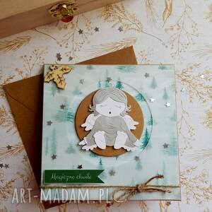 prezenty świąteczneKartka Magiczny Czas Święta - gwiazda kartka