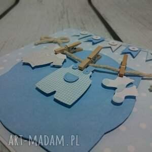 niebieskie scrapbooking kartki pamiatka kartka maluszkowe ubranka
