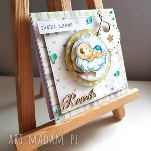 białe scrapbooking kartki dziecko kartka na roczek ze stemplem