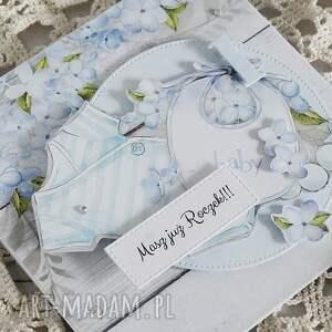 niebieskie scrapbooking kartki urodziny kartka na roczek chłopca, 158
