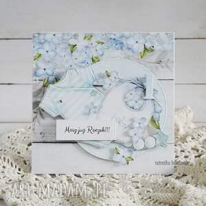 niepowtarzalne scrapbooking kartki urodziny kartka na roczek chłopca, 158