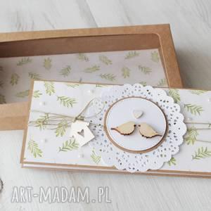 handmade scrapbooking kartki kartka na ślub - ptaszki