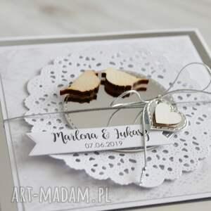 białe scrapbooking kartki kartka na ślub lub rocznicę