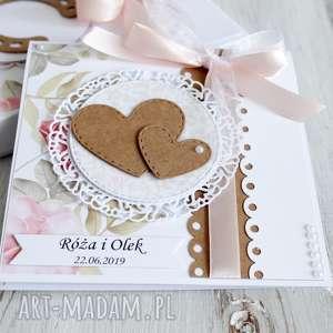 białe scrapbooking kartki ślub kartka