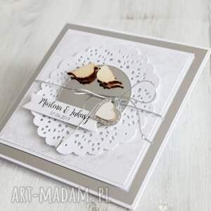 prezent scrapbooking kartki kartka na ślub lub rocznicę