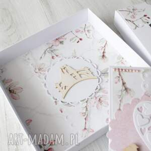 białe prezent kartka na ślub