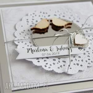 scrapbooking kartki prezent kartka na ślub lub rocznicę