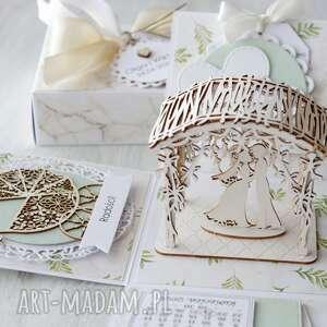 hand made scrapbooking kartki kartka pudełko na ślub