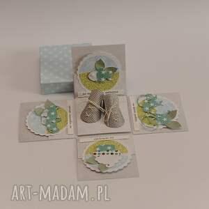 niepowtarzalne scrapbooking kartki kartka pudełko chrzest św