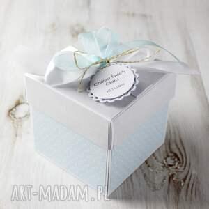 box scrapbooking kartki białe kartka - pudełko z okazji chrztu