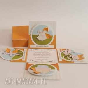 oryginalne scrapbooking kartki karka kartka pudełko na chrzest święty