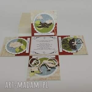 handmade scrapbooking kartki kartka pudełko na ślub