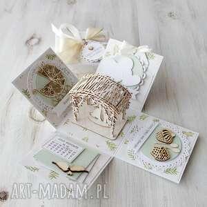 hand made scrapbooking kartki pudełko-eksplodujące kartka pudełko na ślub