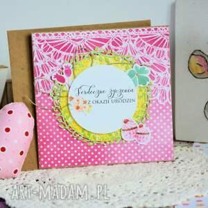 scrapbooking kartki kartka - serdeczne życzenia