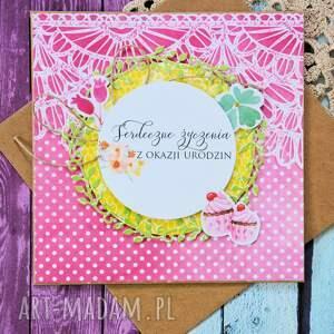scrapbooking kartki romantyczna kartka - serdeczne życzenia