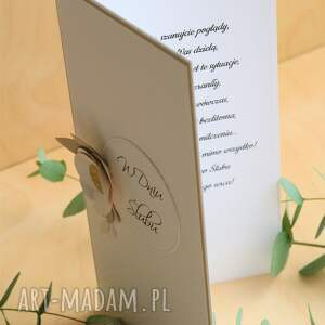 handmade ślubna kartka z