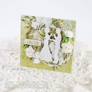 wesele scrapbooking kartki białe kartka ślubna w pudełku, 449