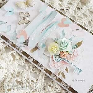 różowe scrapbooking kartki kartka ślubna w pudełku, 472