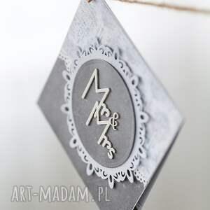 białe scrapbooking kartki ślub kartka ślubna w odcieniach szarości