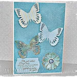 modne scrapbooking kartki kartka ślubna z motylami