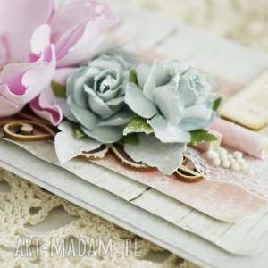 różowe scrapbooking kartki kartka-ślubna kartka ślubna - szary/róż