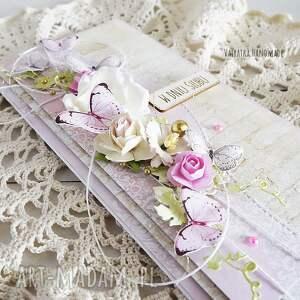 wyjątkowe scrapbooking kartki wesele kartka ślubna z motylkami