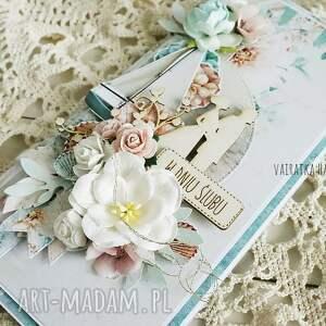 ręczne wykonanie scrapbooking kartki ślub kartka ślubna w pudełku, 687