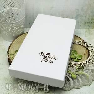 ślub scrapbooking kartki zielone kartka ślubna w pudełku