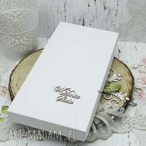 hand made scrapbooking kartki ślub kartka ślubna w pudełku