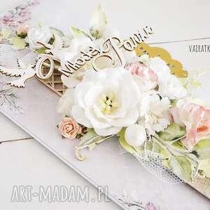 ręcznie robione scrapbooking kartki ślub kartka ślubna w pudełku, 603