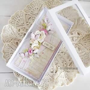 wyjątkowe scrapbooking kartki ślub kartka ślubna z motylkami