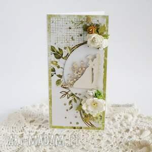 zielone scrapbooking kartki kartka ślubna w pudełku, 451