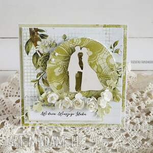 ślub scrapbooking kartki białe kartka ślubna, 530