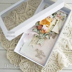 wyjątkowe scrapbooking kartki ślub kartka ślubna w pudełku, 637
