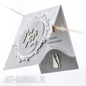 scrapbooking kartki ślub kartka ślubna w odcieniach szarości